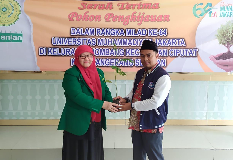Serah Terima Pohon Penghijauan dalam Rangka MILAD ke-64 UMJ, Jombang, Tangerang Selatan