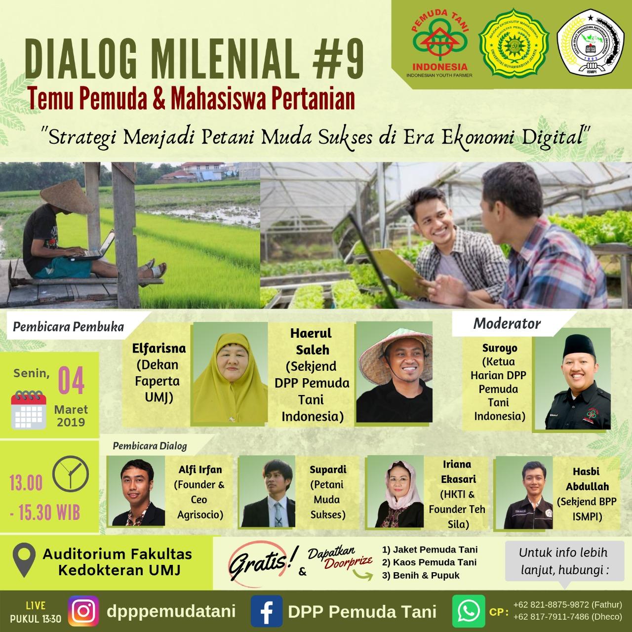 DIALOG MILENIAL #9 Temu Pemuda dan Mahasiswa Pertanian