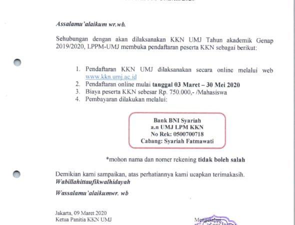 Pendaftaran KKN Online